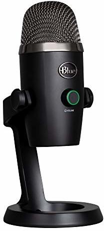 Blue Microphones Microphones Yeti NANO mikrofon USB do nagrywania i strumieniowego przesyłania strumieniowego na komputerze PC i Mac, regulowany statyw, Plug and Play, czarny 988-000401