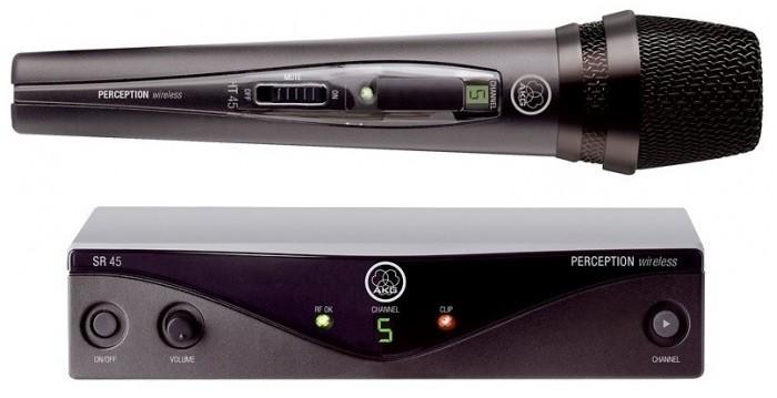AKG WMS 45 VOCAL SET BAND U2 - zestaw bezprzewodowy z mikrofonem do ręki 42050