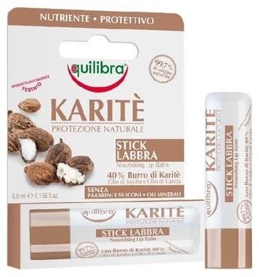 EQUILIBRA Karite Nourishing Lip Balm z masłem shea 5.5ml 63301-uniw