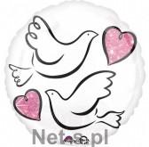 Amscan Balon foliowy Gołąbki