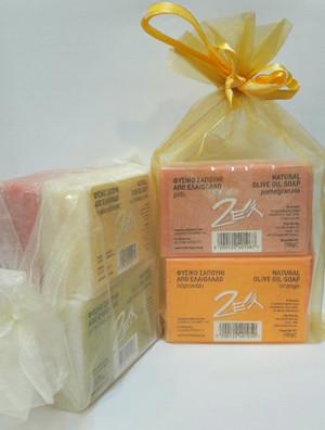 Dameco Zestaw mydełek Greckich Naturalne - Liście Oliwne
