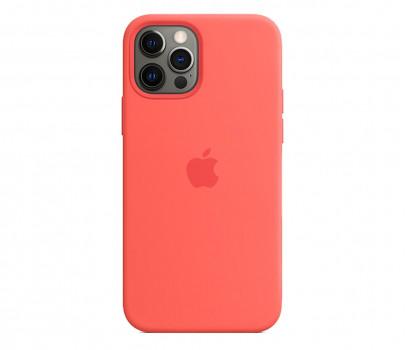 Apple Silikonowe etui iPhone 12 12Pro różowy cytrus