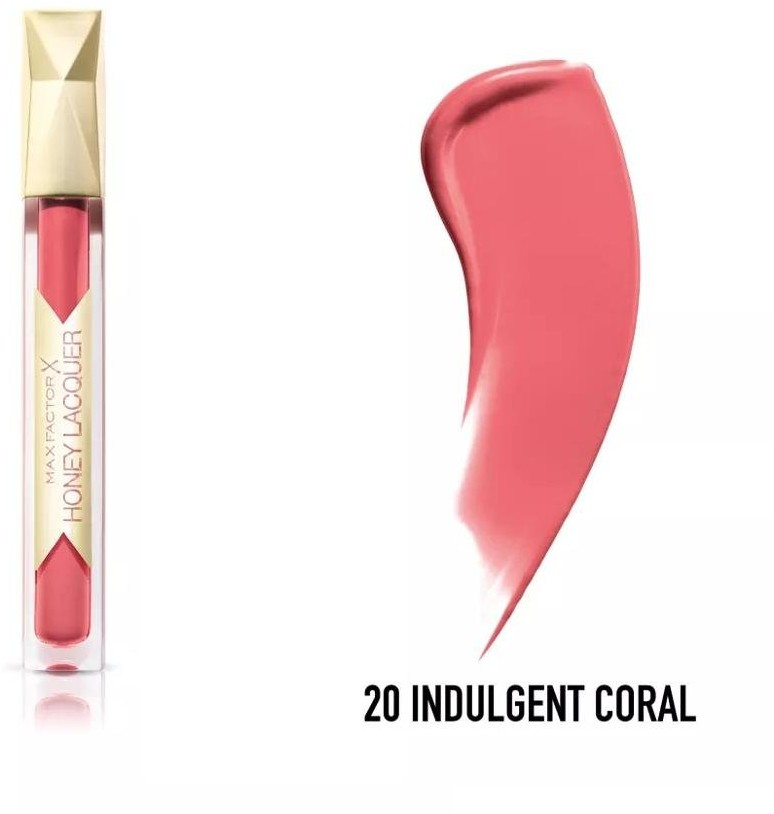 Max Factor Honey Lacquer, błyszczyk do ust Indulgent Coral, 3,8 ml