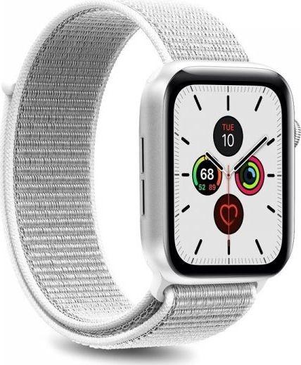 PURO Apple Watch Band Nylonowy pasek do Apple Watch 42 44 mm Biały