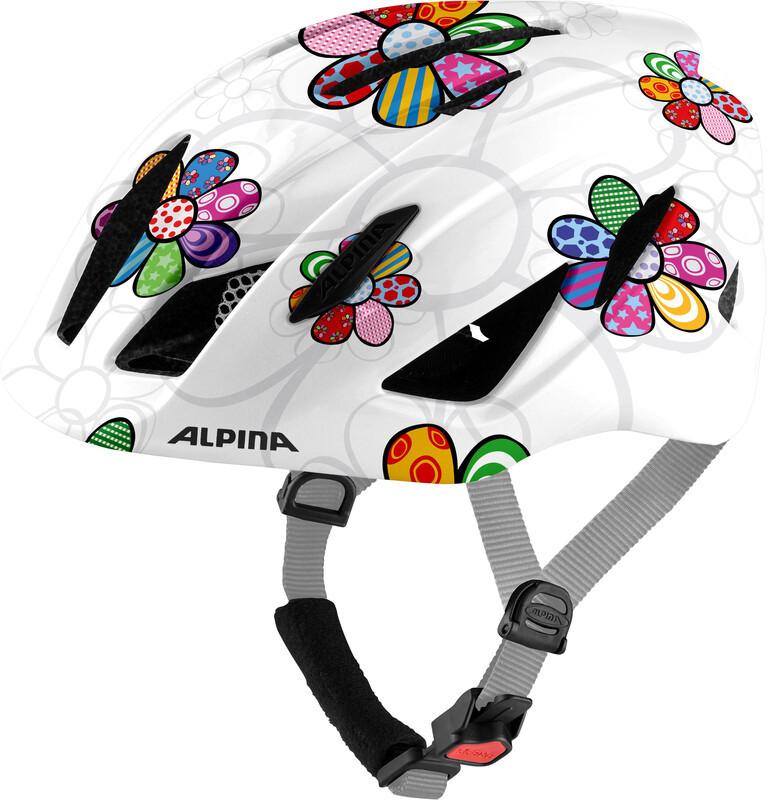 Alpina Pico Helmet Kids, pearlwhite/flower gloss 50-55cm 2021 Kaski dla dzieci 9761111