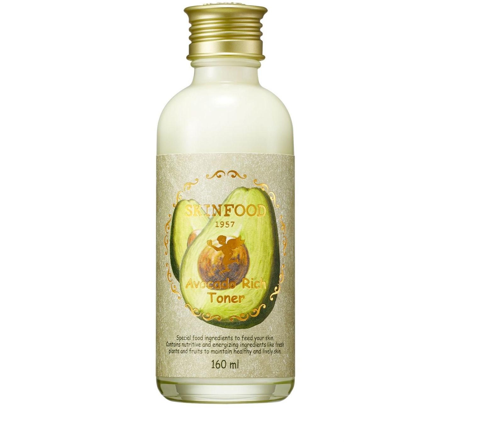 Skinfood Skinfood Avocado Rich Toner   160ml tonik do twarzy z avokado
