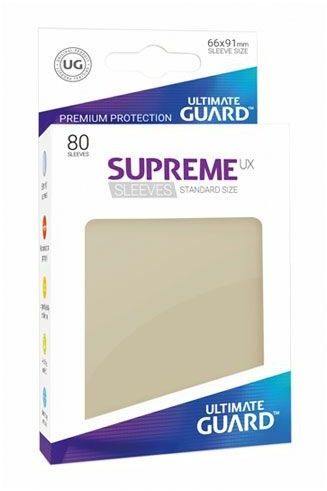 Ultimate Guard Guard Supreme UX Sleeves Standard Size Sand (80)