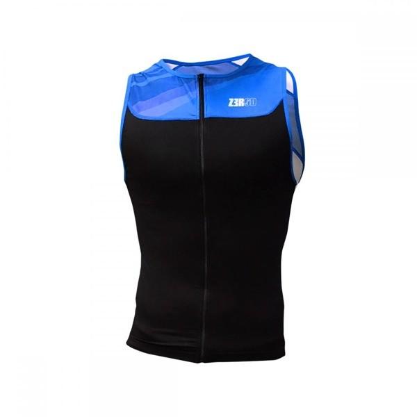 ZEROD koszulka triathlonowa START TRISINGLET czarno- niebieska