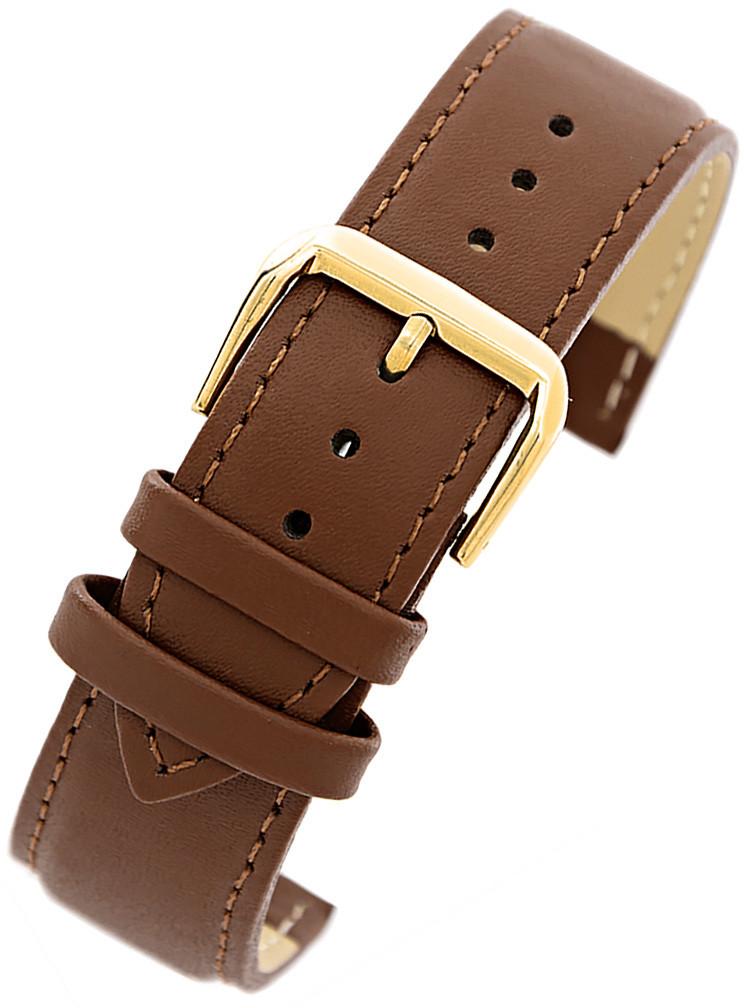 087f71827a2790 Pacific Pasek skórzany PACIFIC W30 do zegarka - w pudełku - brąz/brąz/złota