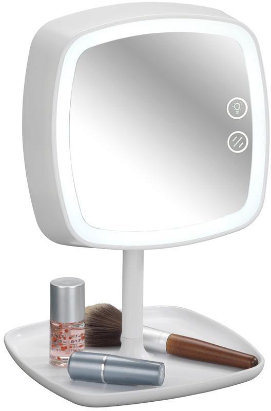 Wenko Lusterko kosmetyczne OSTIA z funkcją lampki LED i podstawką na kosmetyki 22851100