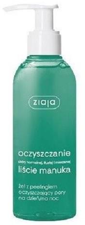 Ziaja Ziaja Liście Manuka Oczyszczanie żel z peelingiem oczyszczający pory na dzień/noc 200ml 54347-uniw