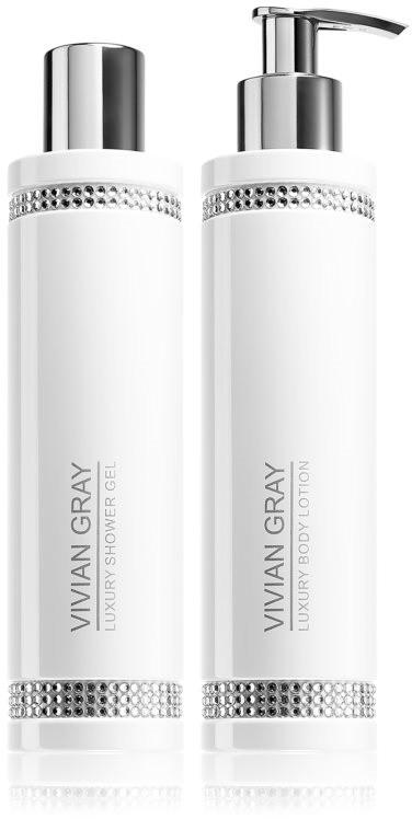 Vivian Gray SET Vivian Grey White Shower Gel & Body Lotion żel pod prysznic 250ml + mleczko do ciała 250ml