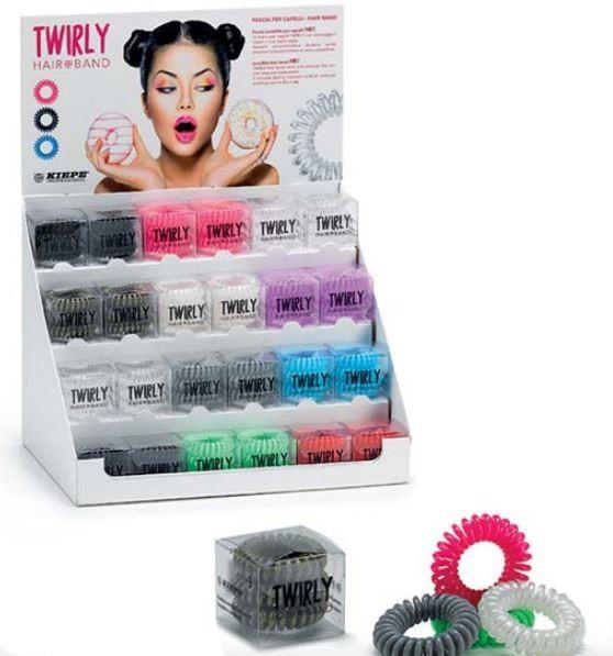 KIEPE KIEPE TWIRLY Hair Band - Zestaw gumek do włosów ( 24 rodzaje po 3 gumki )