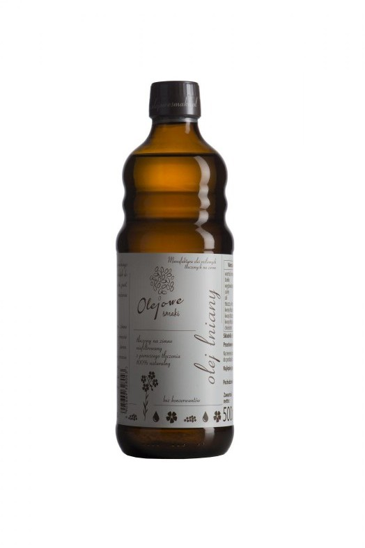 Olejowe Smaki olej Lniany Zimnotłoczony 500 ml - Olejowe Smaki 36S_1170