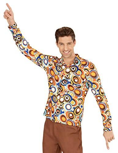 Widmann Koszulka męska koszula siedemdziesiąte lata 70. lat 80. osłony męska Schlager Disco -  jeden rozmiar Multicoloured B0787JNNQC