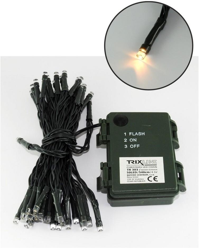 Baterie Centrum LED Zewnętrzny łańcuch świąteczny 5,4 m 50xLED/3xAA 2700 K