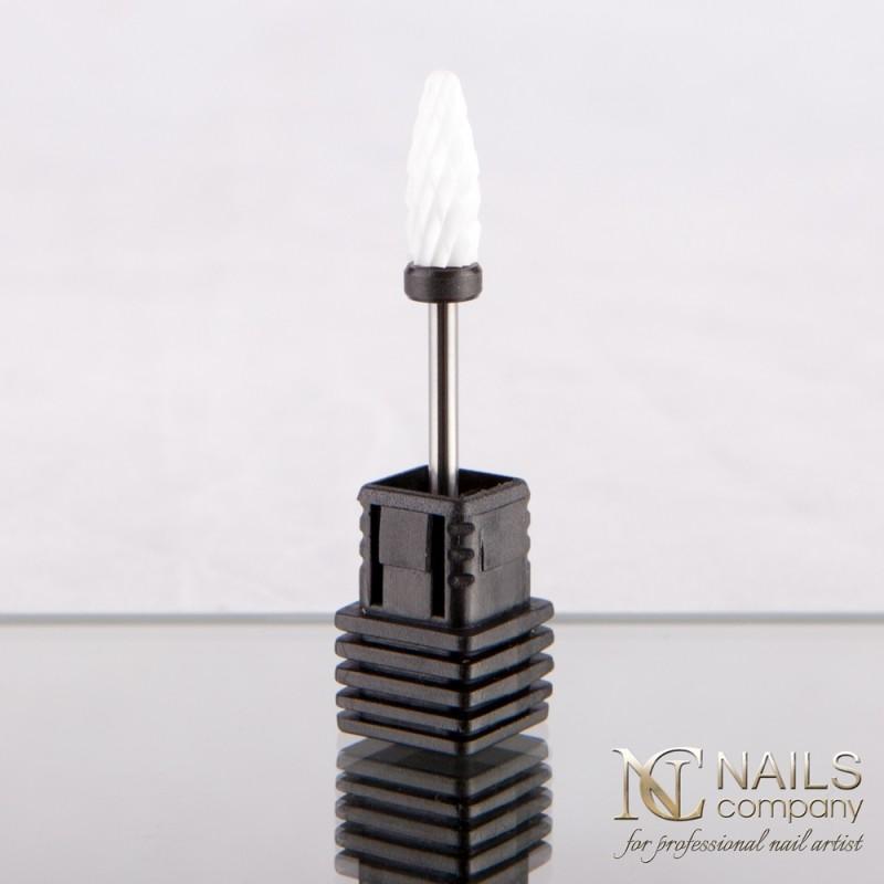 NAILS COMPANY Frez ceramiczny do żelu i akrylu kształt stożek HARD  Nails Company