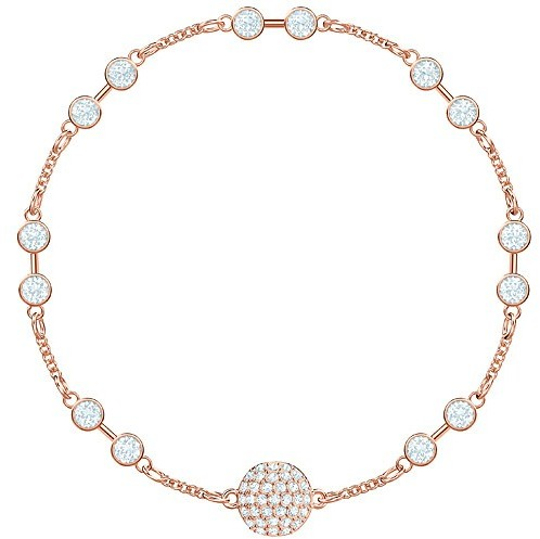 Swarovski Remix Collection Carrier, White, Rose gold plating White Rose gold-plated