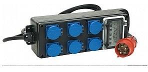 PROEL SDC350 Kompaktowa przenośna skrzynka rozdzielcza z gumy i z uchwytem 10m IP SDC350