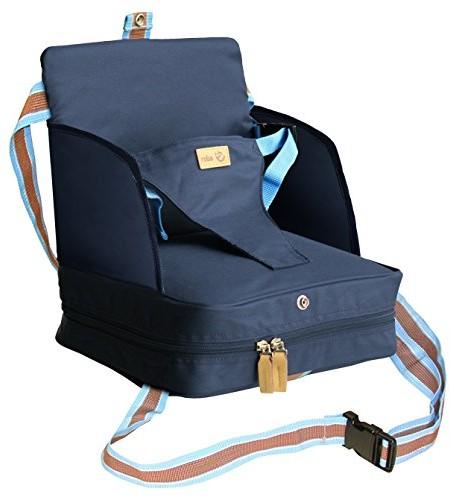 roba Roba fotelik boosterowy w kolorze niebieskim, mobilne nadmuchiwane siedzisko dziecięce jako podwyższenie siedziska i siedzenie podróżne  niebieski