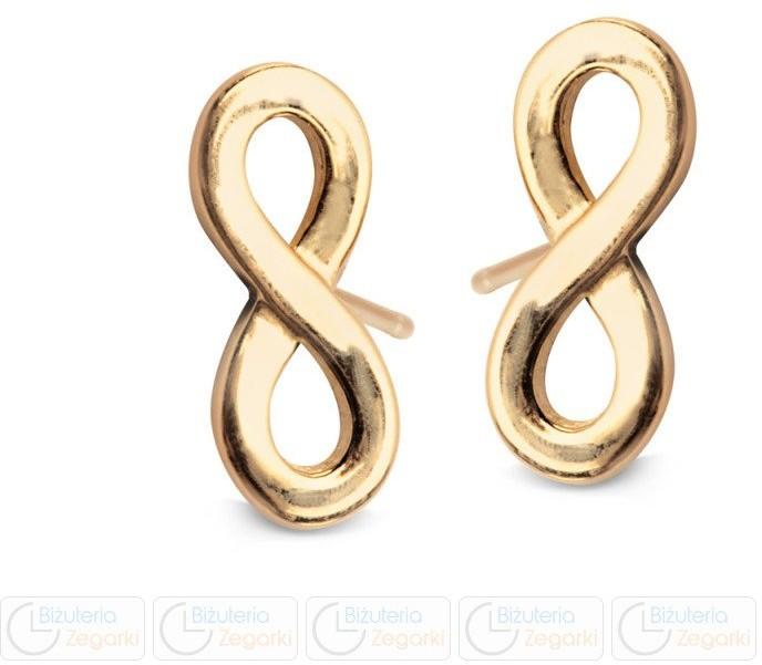 Verona KOLCZYKI złote pr 333 nieskończoność na sztyfcie FA12518