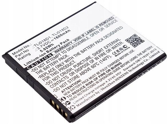 Cameron Sino Alcatel Bateria TLi018D1 TLi018D2 Do One Touch Pop