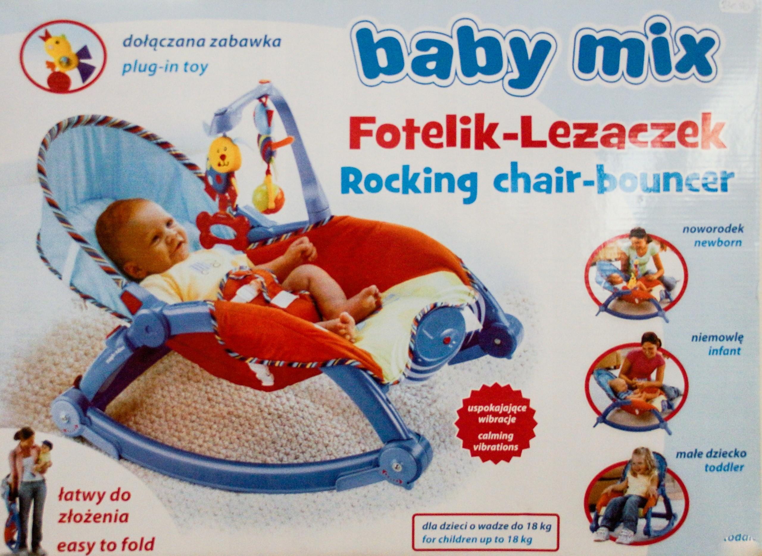 Baby Mix Fotelik-leżaczek-bujaczek 0-18kg. -