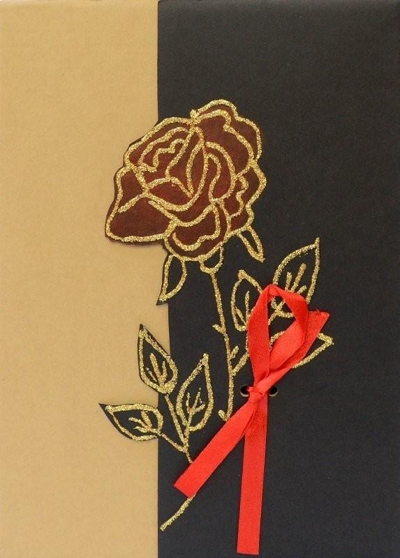 Micro carta Pudełko prezentowe - Róża - Opakowanie ozdobne