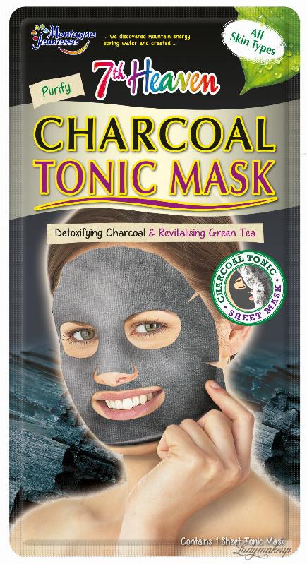 7th Heaven (Montagne Jeunesse) 7th Heaven (Montagne Jeunesse) - Charcoal Tonic Mask - Oczyszczająco-regenerująca maska do twarzy w płacie 7THOMTPL