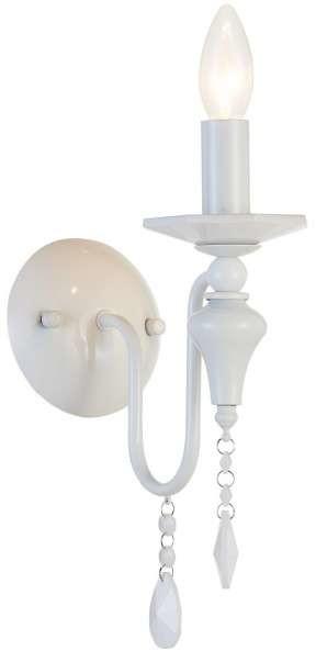 EVO Kinkiet LAMPA ścienna EVO W01731WH świecznikowa OPRAWA z kryształkami biała EVO W01731WH