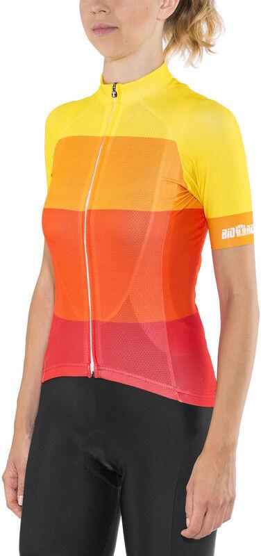 Red cycling products Red Cycling Products Colorblock Race Koszulka rowerowa z zamkiem błyskawicznym Kobiety, red-yellow L 2020 Koszulki kolarskie CO_IS51340D-18-001987 -L