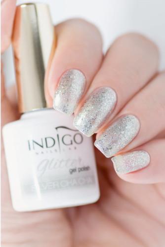 Indigo Indigo Silver Cha Cha Glitter Gel Polish 7ml INDI337