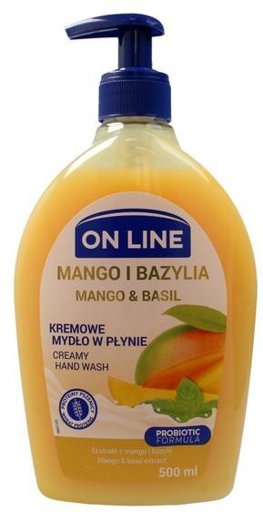 On Line Mydło kremowe w dozowniku Mango i Bazylia 500ml