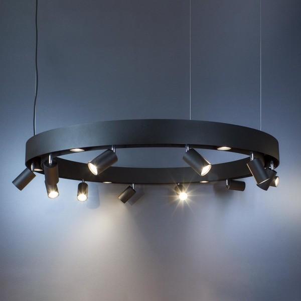 Koło Imperium Light lampa wisząca Linkor 18xGU10 czarna 120cm 28118120.05.05