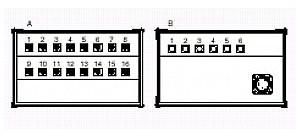 PROEL SNBOX16 Stage Box z 16 gniazdami XLR, 6 wtykami XLR, 1 wtyk CMIL85MP SNBOX16