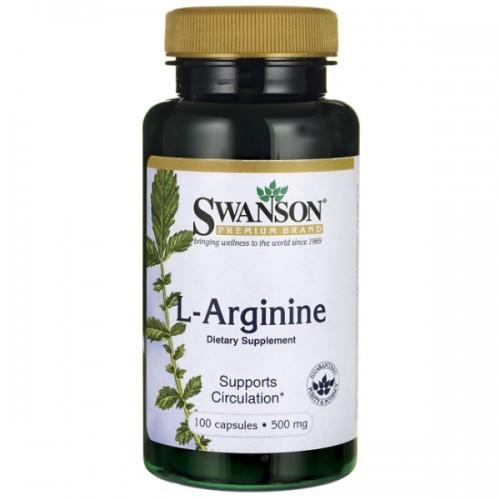 SWANSON L-Arginina 500mg - (100 kap)
