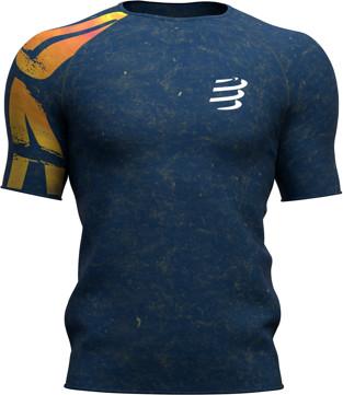 CompresSport Męska koszulka biegowa Training T-Shirt KONA 2019 niebieska