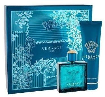 Versace Eros woda toaletowa spray 100ml + żel pod prysznic 100ml Zestaw)