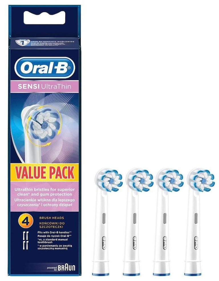 Oral-B Produkty do higieny jamy ustnej Sensi UltraThin Końcówki wymienne do szczoteczek do zębów opakowanie 4 sztuki