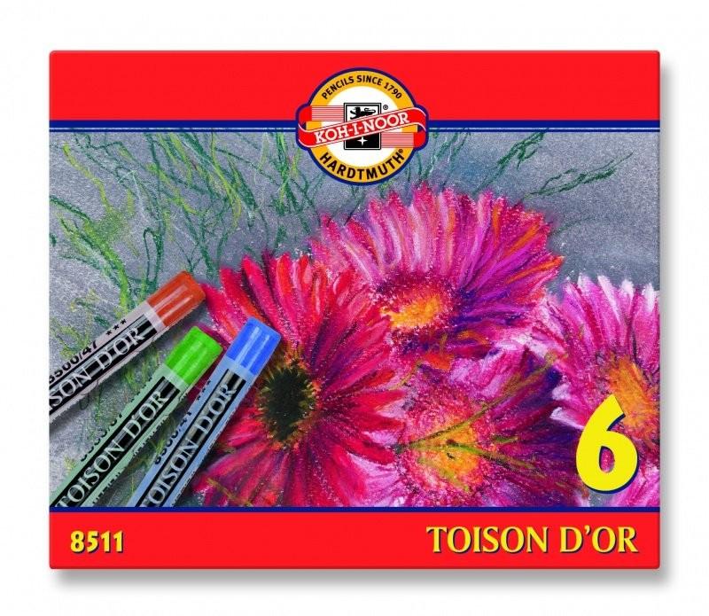 Koh-I-Noor pastele suche, Toison D'or, 6 kolorów