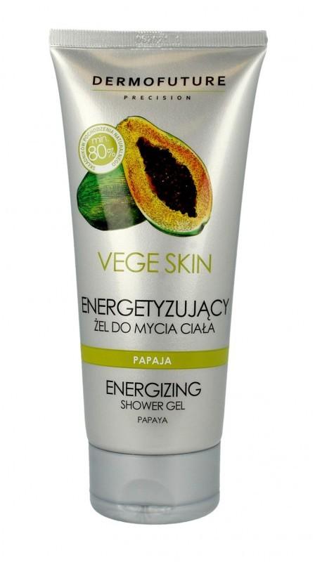TENEX Dermofuture Precision Vege Skin Żel do mycia ciała energetyzujący Papaja 200ml