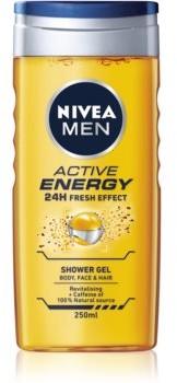 Nivea Active Energy odświeżający żel pod prysznic do twarzy ciała i włosów 250 ml
