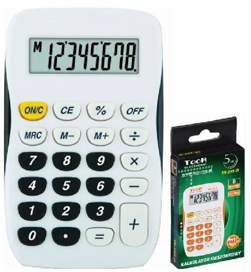 TOOR Kalkulator kieszonkowy 8-pozycyjny TR-295-K