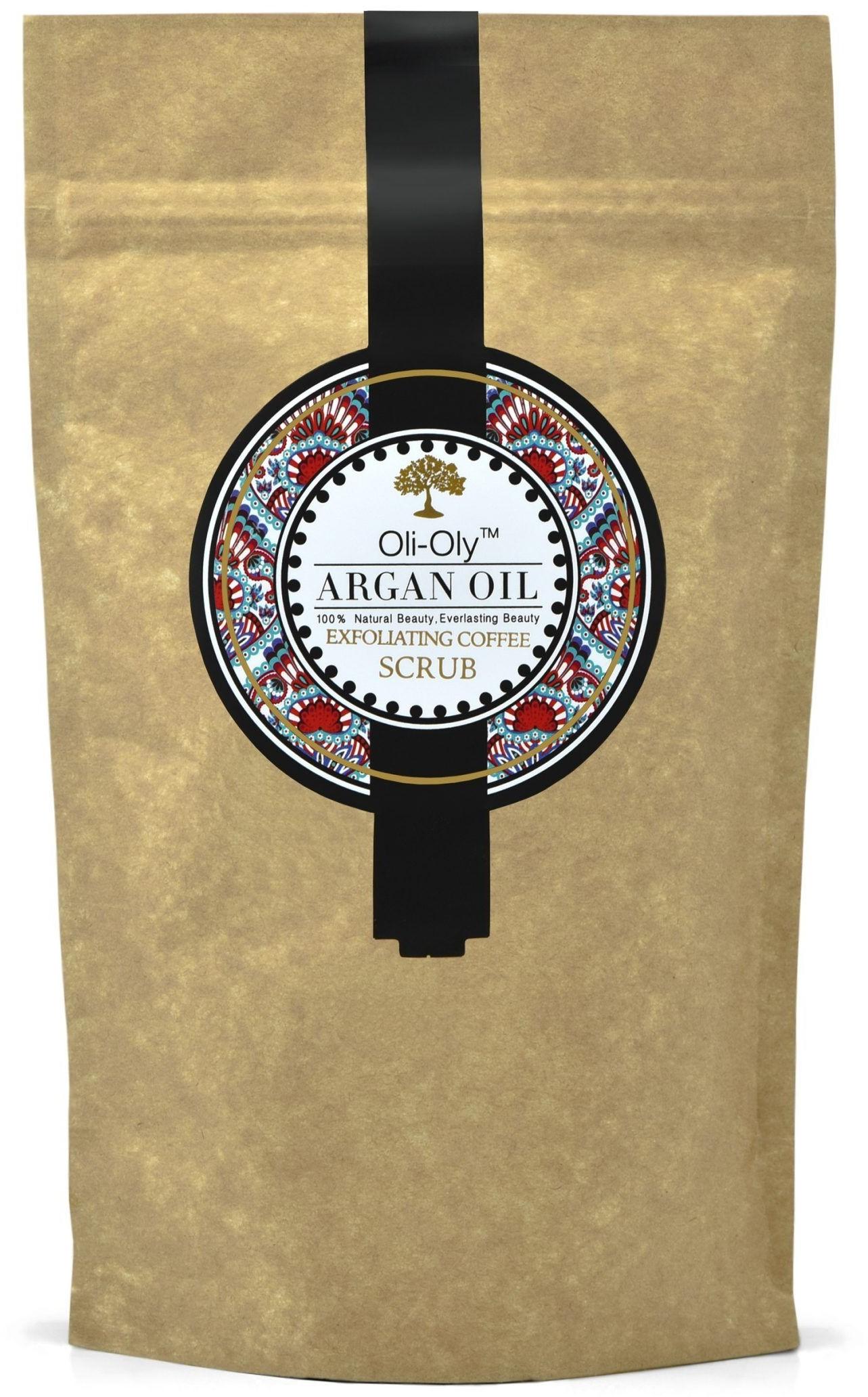 Oli-Oly Kawowy Peeling Złuszczający z Olejem Arganowym, 80g, Bezzapachowy