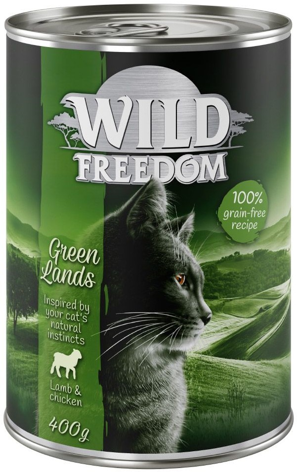 Wild Freedom Wild Freedom Adult, 6 x 400 g - Green Lands - Jagnięcina i kurczak