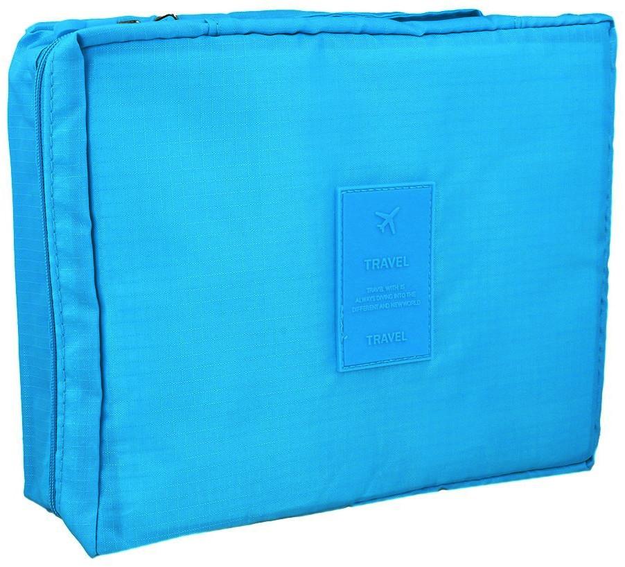 Deni Carte Niebieski Kuferek Kosmetyczny Na Zamek
