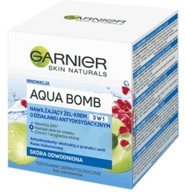 Garnier Aqua Bomb nawilżający żel-krem do twarzy na noc 50 ml