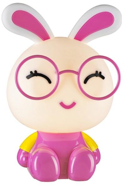 Lampka nocna Bunny 1 x 40 W E14 IP20 różowo-biała 208