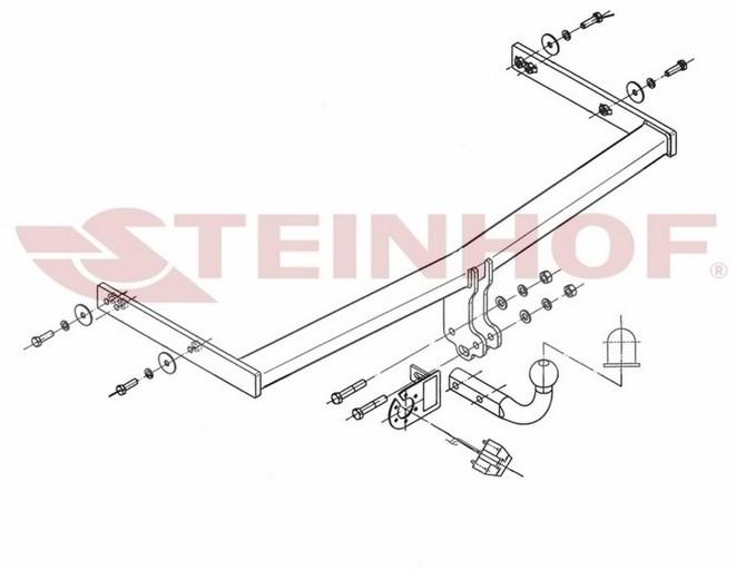Steinhof Hak holowniczy Steinhof S-101 Seat Altea XL 2006 - 2015 675-uniw