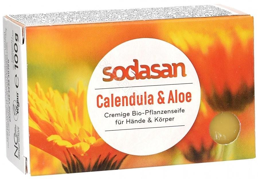 Sodasan ekologiczne mydło w kostce Aloes i Nagietek 100 g